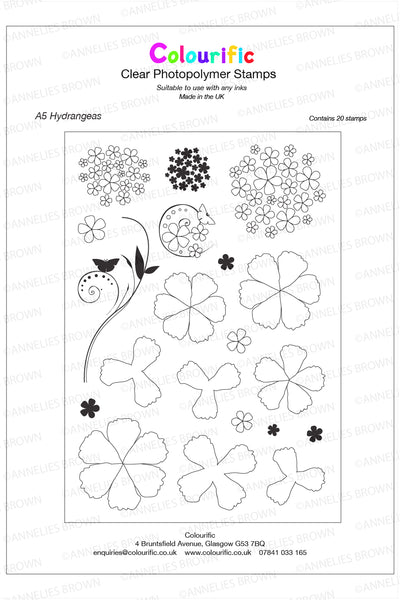 A5 Hydrangeas Stamp Set