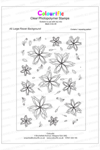 A5 Large Flower Background Stamp Set