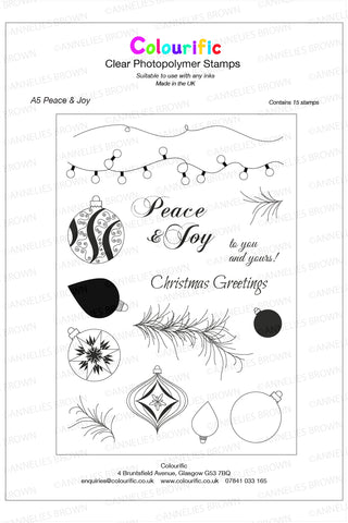 A5 Peace & Joy Stamp Set