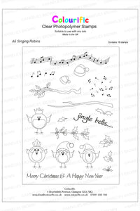 A5 Singing Robins Stamp Set