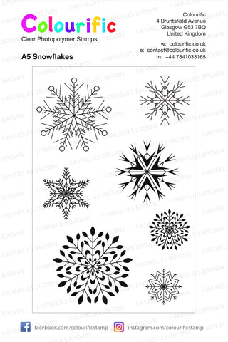 A5 Snowflakes Stamp Set