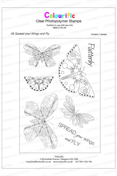A5 Spread your Wings and Fly Stamp Set
