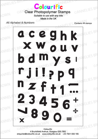 A6 Alphabet & Numbers Stamp Set