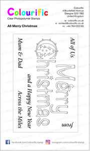A6 Merry Christmas Wordage Stamp Set