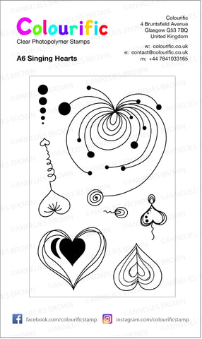 A6 Singing Hearts Stamp Set