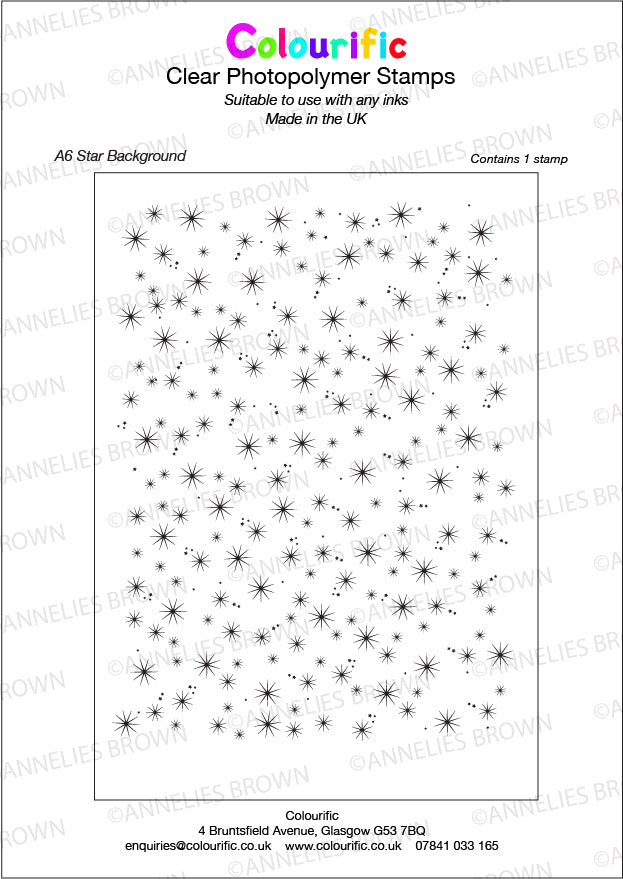 A6 Star Background Stamp Set