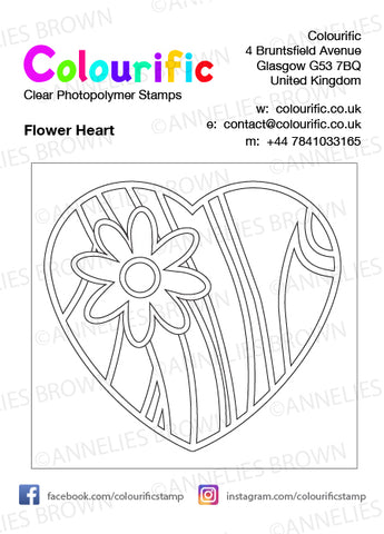 A7 Flower Heart Stamp Set