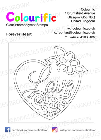 A7 Forever Heart Stamp Set