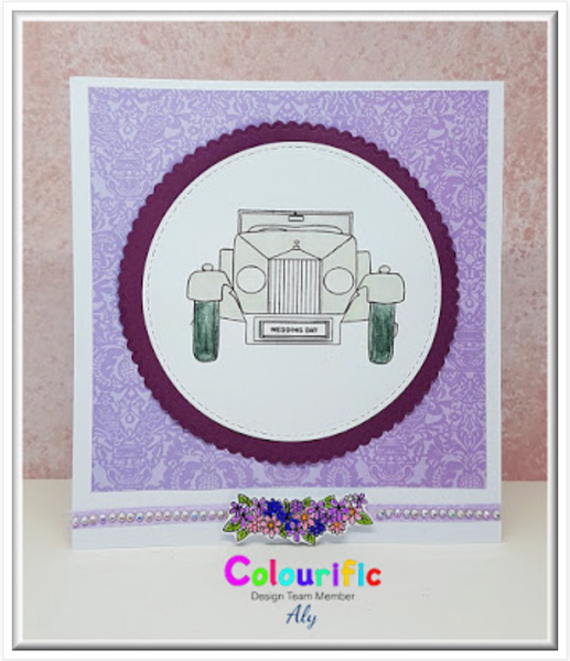A6 Vintage Car Stamp Set
