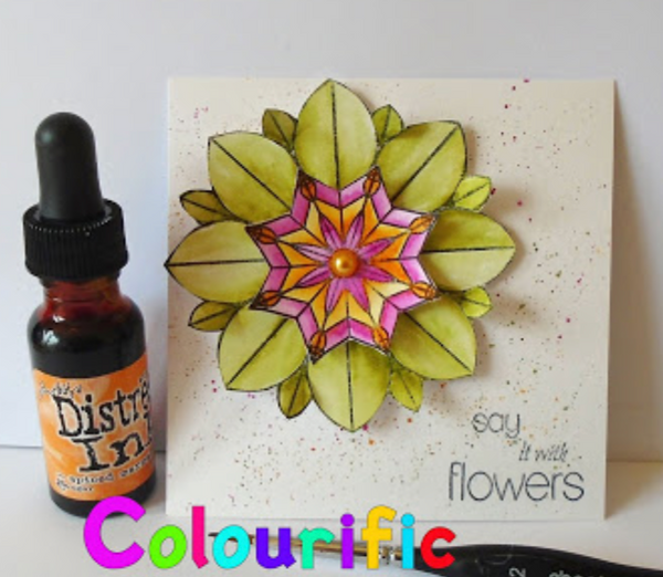 A6 Stained Glass Kaleidoscope Stamp Set