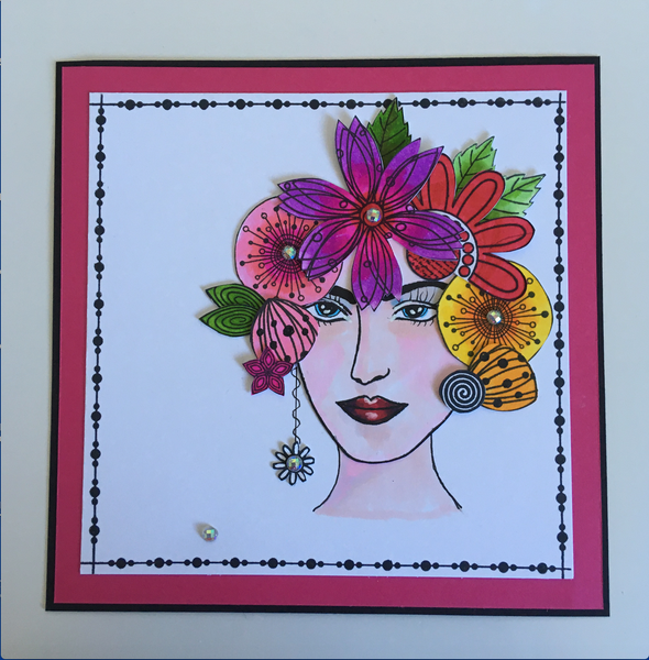 A5 Zen Lady B - Samira Stamp Set