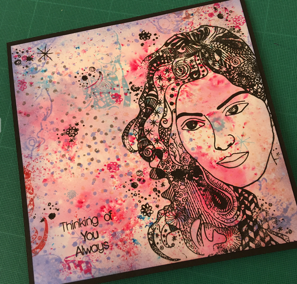 A6 Grunge Background Stamp Set