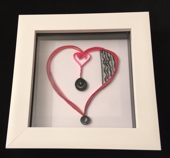 A6 String of Hearts Stamp Set