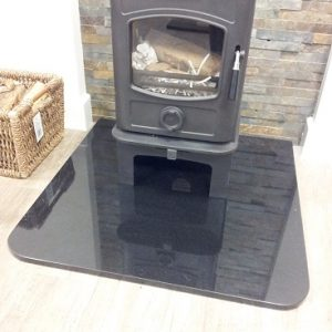 Granite Stove Hearth - shaped
