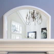 Arched Overmantle mirror