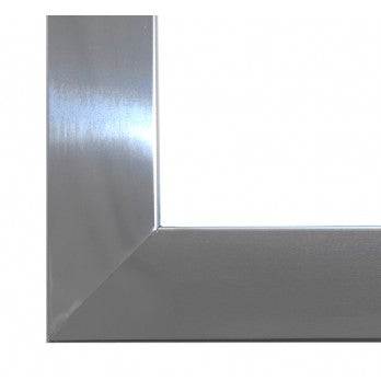 Trim for fireplace - stainless steel