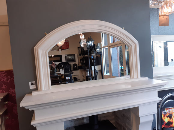 Arched Overmantle mirror large
