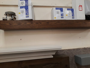 Beam - wooden oak with walnut stain