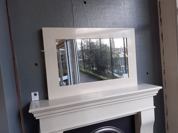 A Small Square Overmantle mirror