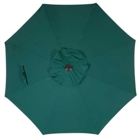Image of 9 Foot Outdoor Patio Umbrella with Push Button Tilt and Crank Dark Green
