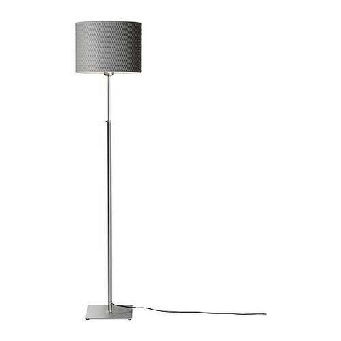 Modern Floor Light with Round Grey Lamp Shade
