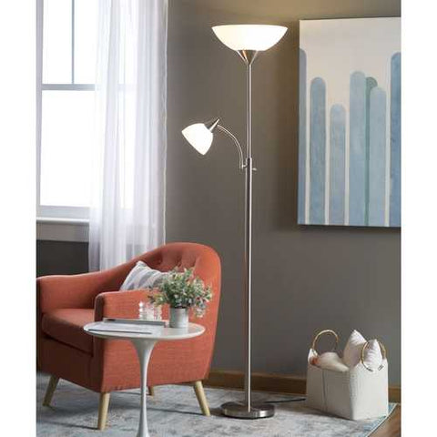 Image of Modern 71-inch High Floor Lamp with Gooseneck Reading Light