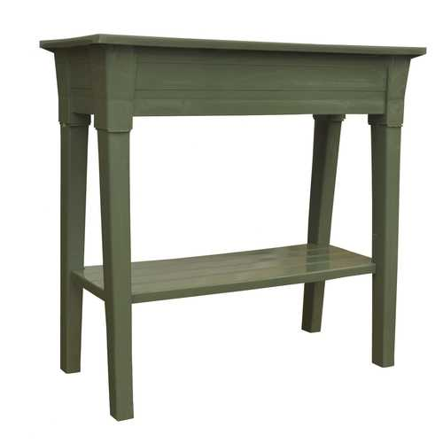 Raised Planter in Sage Green Resin  - Great for Patio or Garden