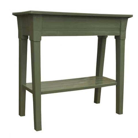 Image of Raised Planter in Sage Green Resin  - Great for Patio or Garden