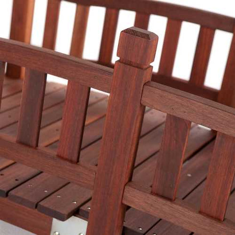 Image of Durable Red Shorea Wood 6-Ft Garden Bridge with Hand Rails
