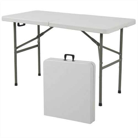 Image of Multipurpose 4-Foot Center Folding Table with Carry Handle