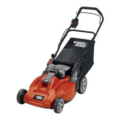 Image of Cordless 36-Volt Black & Decker 19-Inch Electric Lawn Mower & Battery