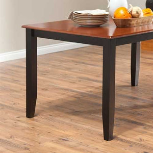 Solid Hardwood Two Tone Cherry / Black Dining Table - Seats up to 6