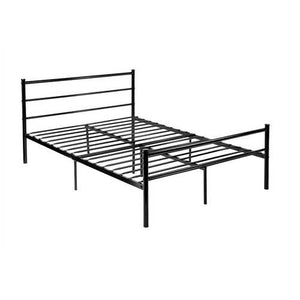 Full size Modern Black Metal Platform Bed Frame with Headboard and Footboard