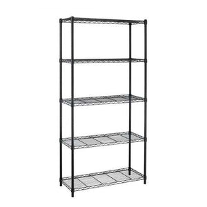 Black Metal 5-Shelf Heavy Duty Shelving Unit Storage Rack