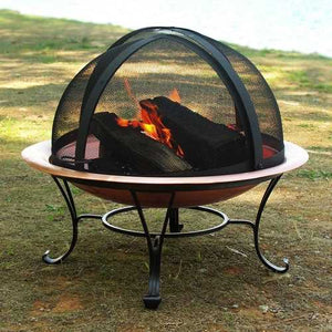 Classic 30-inch Copper Fire Pit with Dome Screen