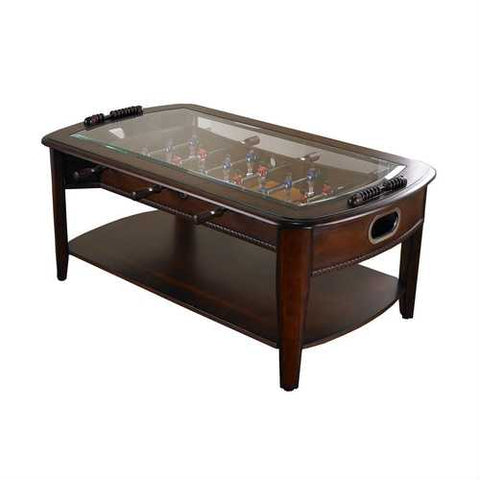 Solid Hardwood and Glass Foosball Table Coffee-table