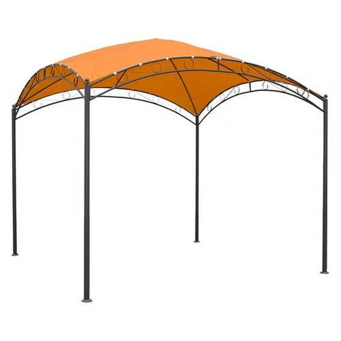 Image of 10Ft x 10Ft Dome Top Gazebo Shade Tent Bronze Terra Cotta