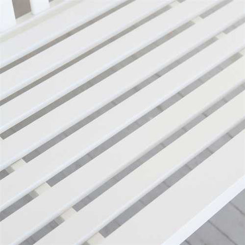 Image of Outdoor Patio Deck 4-Ft Porch Swing in White Wood Finish