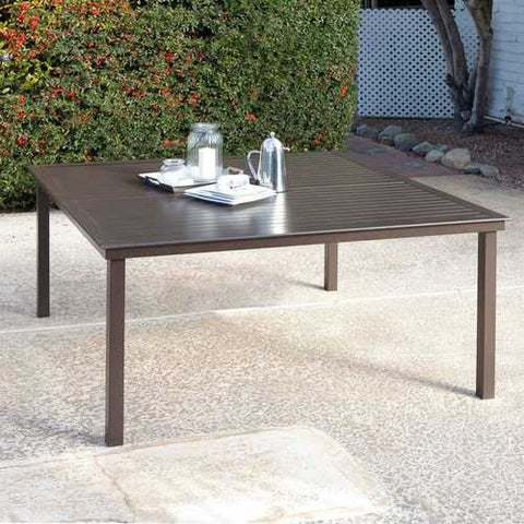 Square 60-inch Contemporary Mocha Brown Patio Dining Table