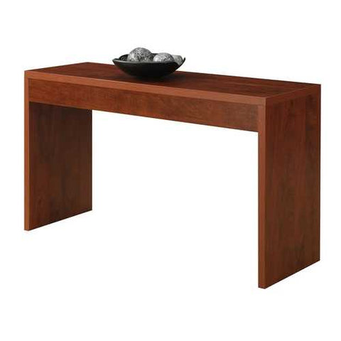Image of Cherry Finish Sofa Table Modern Living Room Console Table