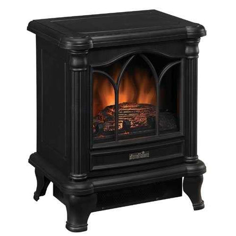 Image of Black Freestanding Electric Stove Style Fireplace Space Heater