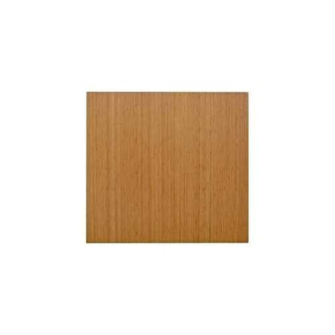 Eco-Friendly Bamboo Rectangular Chair Mat in Natural
