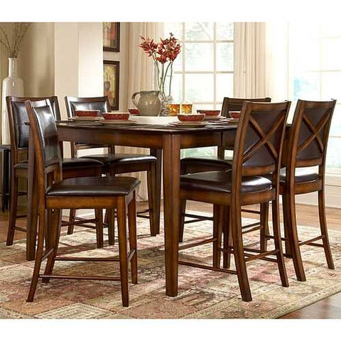 San Francisco 5-Piece Dining Set in Rustic Oak Finish