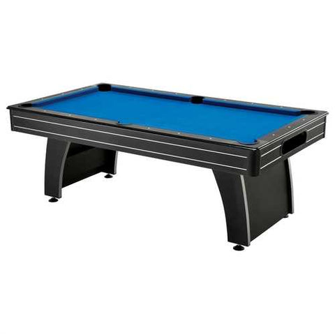 7 Ft Blue Top Pool Table with 2 Cues and Billiard Balls