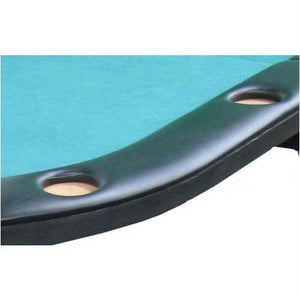 Texas Hold'em Poker Table with 10 Built-in Drink Holders