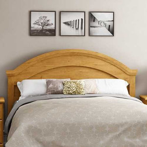 Full / Queen size Arch Top Country Style Headboard in Pine Finish