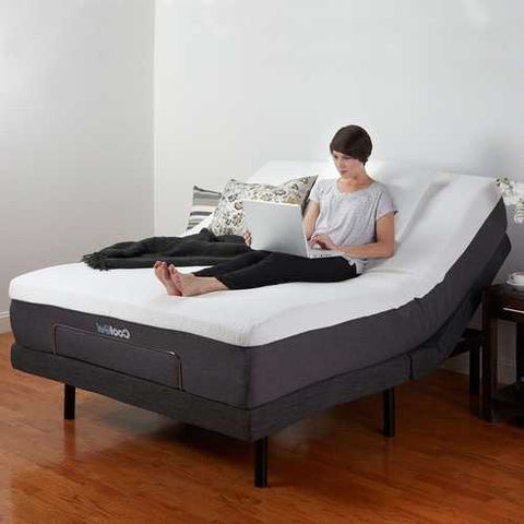 Full-size Adjustable Bed Base with Wireless Remote Massage and USB Port