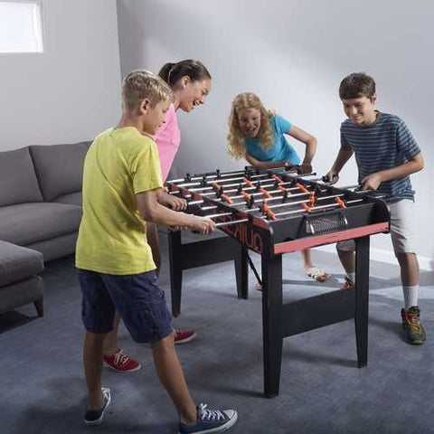 Folding Foosball Table 4-Ft Game Table with 2 Foosballs