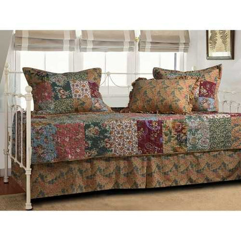 Floral 5-Piece Daybed Ensemble Bedding Set
