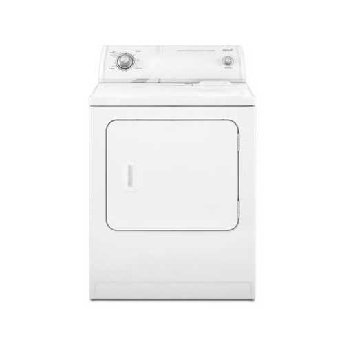 6.5 cu. ft. X-Large Capacity Electric Dryer in White